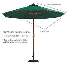 Replacement Canopy Covers by Formosa Covers Replacementcanopy 11x8taupe Replacement Umbrella