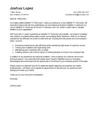 Best Satellite TV Technician Installer Cover Letter Examples       customer service cover letter happytom co