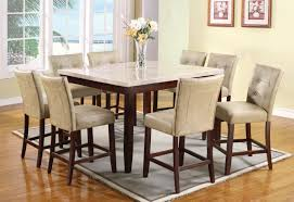 acme britney 9 pc square marble top counter height table set by acme britney 9 pc square marble top counter height table set by dining rooms outlet