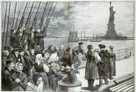 Immigrants Behold the Statue of Liberty jpg FamilySearch