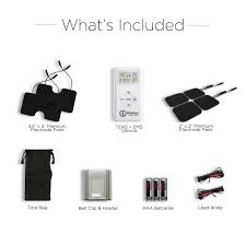 Whats Included Buy Tens Ems Unit Muscle Stimulator Combo Tens U0026 Ems Pain Relief
