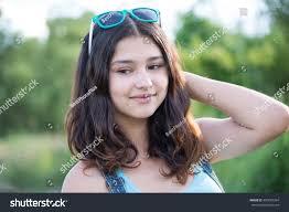 portrait beautiful teen sunglasses on stock photo 490629364