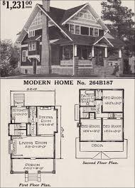 Two Story Craftsman House Plans Half Timbered Two Story Craftsman Style Bungalow 1916 Sears