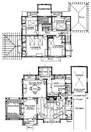 Vintage Home Design Plans First Second Floor Plan Floorplan House Home Building Architecture