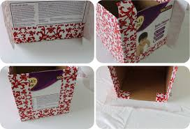 Instructions On How To Make A Toy Chest by Diy How To Recycle Cardboard Boxes Into Pretty Storage Boxes With