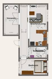 my dream tiny house floor plan complete with french doors that