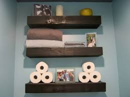 easy diy bathroom projects wood floating shelves bathroom gray