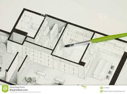 single green brush set on real estate floor plan architectural
