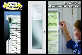 exterior door with blinds between glass bathroom doors the glass door store