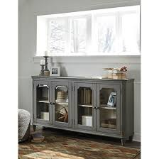 glass door hutch french provincial style glass door accent cabinet in antique gray