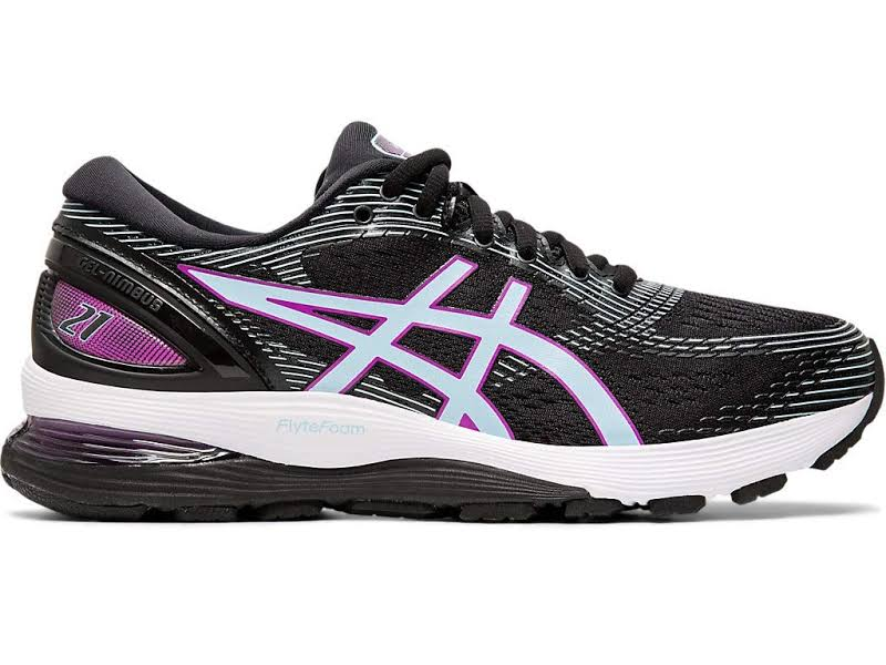 ASICS GEL-Nimbus 21 Running Shoes Black- Womens