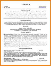 business analyst resume   technician resume