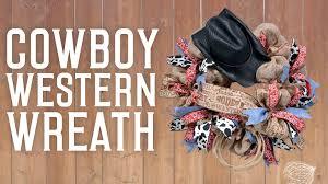 cowboy western wreath youtube