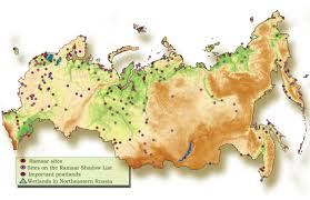 Map Of Russia And Europe by Wetlands Of Russia