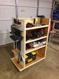 Rolling Wood Storage Rack Plans by Best 25 Tool Cart Ideas On Pinterest Art Tool Storage Tool