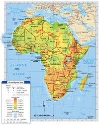 Sub Saharan Africa Physical Map by Africa Is Broken Into Many Different Regions Sahara Sah