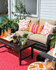 Patio Decor Ideas: Colorful Poolside Seating by Cassie of Hi ...