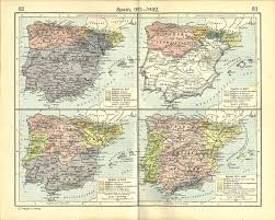Spain Political Map by Historical Maps Of Spain And Portugal