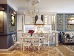 Crystal Chandeliers For Dining Room Kitchen Elegant Kitchen Dining Room Idea Using Classic Furniture