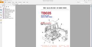 takeuchi excavator tb035 parts manual auto repair manual forum