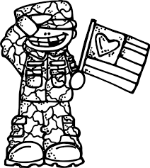 soldier boy flag coloring page wecoloringpage