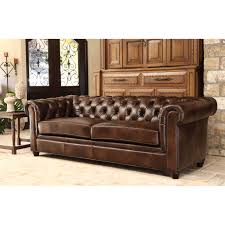 Chesterfield Sofa Leather by Furniture Exquisite Comfort With Leather Tufted Sofa
