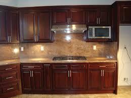 Exellent Cherry Kitchen Cabinets Black Granite Backsplash Tile For - Kitchen backsplash ideas dark cherry cabinets