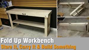 Plans For Building A Wooden Workbench by How To Build A Workbench Out Of 2x4 And Plywood That Folds Up