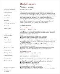 Example Server Resume by Server Resume Examples Restaurant Waiter Resume Sample Waiter
