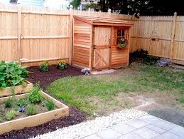 Backyard Storage Building by The Cedar Lean To Shed Fits Nicely Along A Fence And Is Awesome