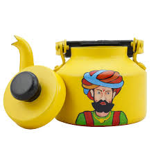 customized hand painted teapot for home decor rajasthani art
