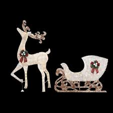 The Home Depot Christmas Decorations Home Accents Holiday 60 In Led Lighted Standing Deer With 44 In