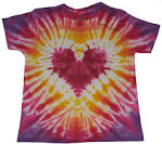 Phat Dyes Tie Dyes Kids Red Heart Small phatdyes.com