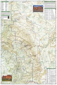 Canyonlands National Park Map Capitol Reef National Park National Geographic Trails Illustrated