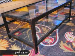 modern wood and glass coffee table diy modern to industrial style coffee table jenna burger