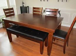 Teak Dining Room Table And Chairs by Bench For Kitchen Table Best Ideas About Table Bench On Home
