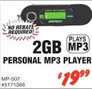 Emprex MP-507 2GB Personal MP3 Player - Fry