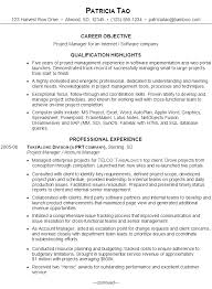 Sample Resume For Senior Manager by Resume For An It Project Manager Susan Ireland Resumes