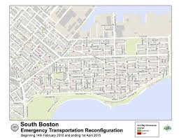 Map Of Boston Neighborhoods by Boston Snow Update Southie One Way Street Reconfiguration A Success