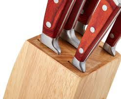 Gourmet Kitchen Knives Gourmet Kitchen 5 Piece Knife Set W Wood Block Ebay