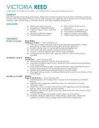 Resume Job Profile by Unforgettable Server Resume Examples To Stand Out Myperfectresume
