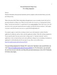 An Example Of A Personal Essay How To Write A Personal Statement Brefash Examples Of Essay