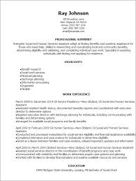 Professional Social And Human Services Assistant Resume Templates