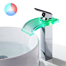 tapcet bathroom faucet led waterfall kitchen sink faucet 3