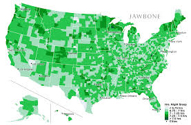 Time Zone Map Usa With Cities by Which Cities Get The Most Sleep The Jawbone Blog