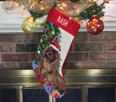 ruby cavalier king charles personalized christmas stockings