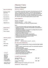 Student Resume Examples No Experience by General Manager Resume 20 Create My Resume Uxhandy Com