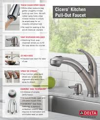 delta cicero single handle pull out sprayer kitchen faucet with
