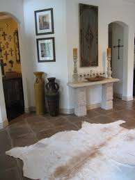 rustic home interior design with white wall paint color and clay