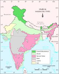 India Map Quiz by Indian Geography Notes For Civil Services Exam Soil Types
